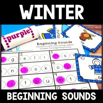 Kindergarten Winter Literacy Center - Beginning Sound Center