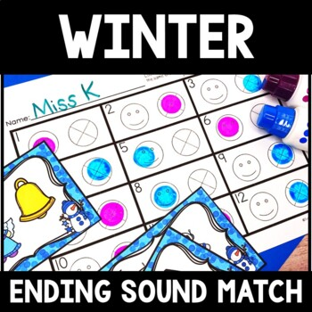 Kindergarten Winter Literacy Center - Ending Sound Center