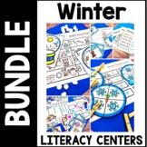 Kindergarten Winter Literacy Centers - 7 Snowy Reading Centers