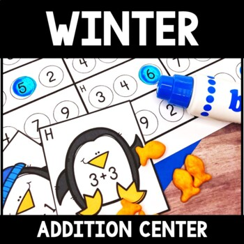 Kindergarten Winter Math Center - Penguin Addition