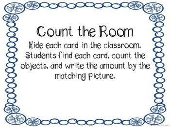 Kindergarten Winter Math Center - Winter Count the Room
