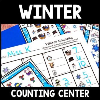 Kindergarten Winter Math Center - Winter Counting