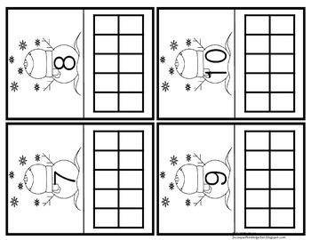 Kindergarten Winter Math Centers (Common Core Aligned)