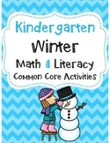 Kindergarten Winter Math & Literacy Common Core Activities