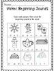Kindergarten Winter Math & Literacy Common Core Activities