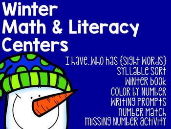 Winter Math & Literacy Centers