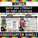 Winter Kindergarten Worksheets Bundle