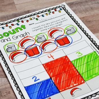 Kindergarten Winter Math No Prep Printables {TEKS/CCSS}