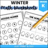 Kindergarten Winter Math Packet (NO PREP)