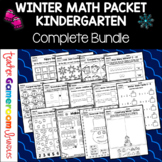 Kindergarten Winter Math Packet - Common Core Aligned!