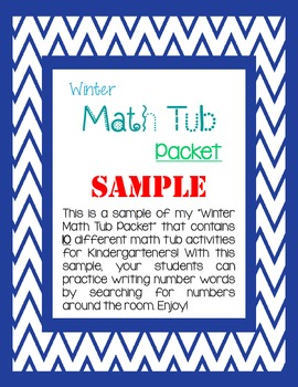 Kindergarten Winter Math Tub FREEBIE!!!