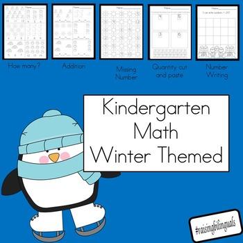 Kindergarten Winter Math Worksheets