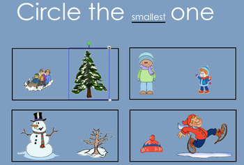 Kindergarten Winter Measurement SMARTboard Activities