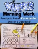 Kindergarten Winter Morning Work