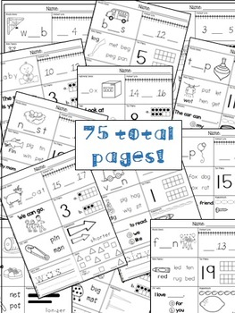 Kindergarten Winter Morning Work (75 pages)