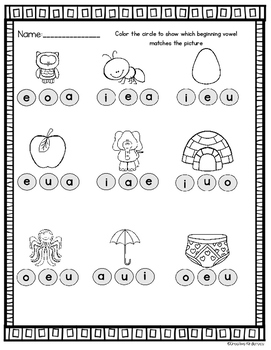 Kindergarten Winter Morning Work Math and Phonics Bundle