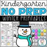 Kindergarten Winter NO PREP Math and Literacy