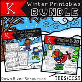 Kindergarten Winter Printables Math BUNDLE {Numbers and More for TEKS/CCSS}