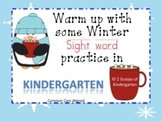 Kindergarten Winter Sight Word Practice Literacy Centers CCSS