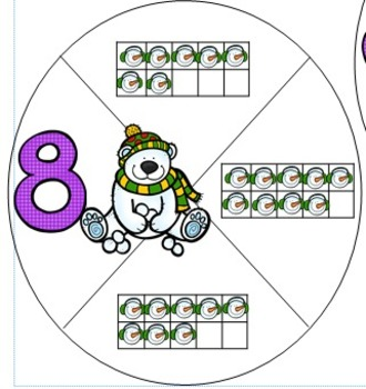 Kindergarten Winter Themed Math Centers (7 Centers)
