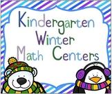 Kindergarten Winter Themed Math Centers (7 Centers)