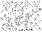 Kindergarten Winter Wonderland Math Worksheets and Games