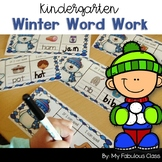 Kindergarten Winter Word Work
