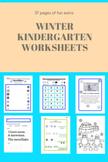 Kindergarten Winter Worksheets (50 pages)