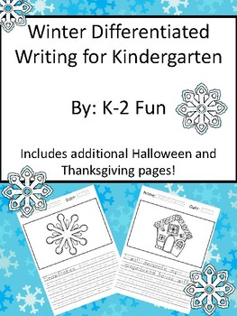Kindergarten Winter Writing Pages