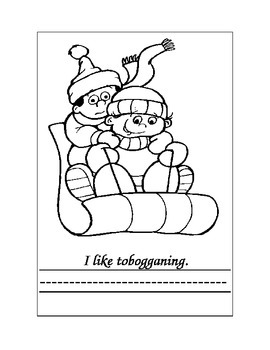 """Kindergarten """"Winter....I Like"""" Sight Word Book For Reading and Writing"""