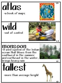 Kindergarten Wit and Wisdom Module 4 Vocabulary