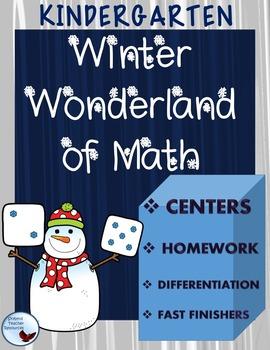 Math: Kindergarten Winter Wonderland Math Activities and W