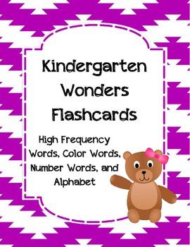 Kindergarten Wonders Flashcards