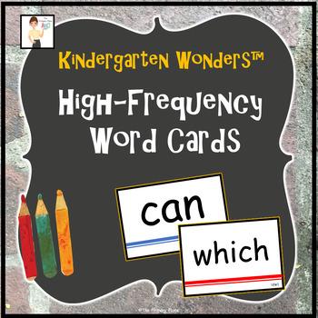Kindergarten Wonders™ High-Frequency Word Cards