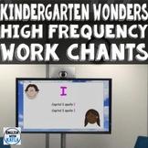 Kindergarten Wonders High Frequency Word Chants