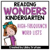 Kindergarten Wonders High-Frequency Word List