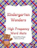 Kindergarten Wonders High Frequency Word Mats