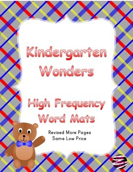 Kindergarten Wonders High Frequency Word Mats