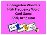 Kindergarten Wonders High Frequency Words Card Game