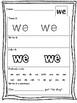 Kindergarten High Frequency Words Practice