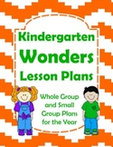 Kindergarten Wonders Lesson Plans for the Year