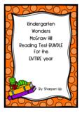 Kindergarten Wonders McGraw Hill Reading Test BUNDLE ENTIRE YR w/ Answer Keys