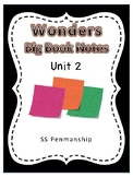 Kindergarten Wonders Notes Unit 2