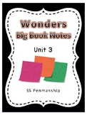 Kindergarten Wonders Notes Unit 3