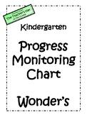 Kindergarten Wonders Progress Monitoring Chart