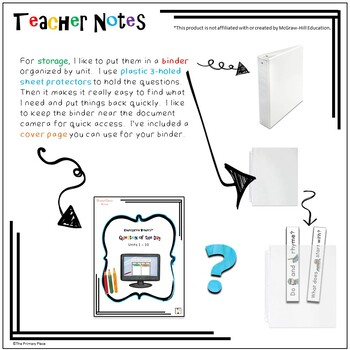 Kindergarten Wonders™ Question of the Day (Units 1-10) Document Camera Version