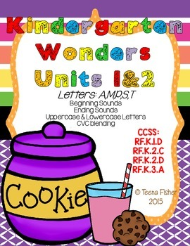 Kindergarten Wonders Reading Units 1&2 Phonics Pack