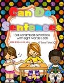 Kindergarten Wonders Reading Can Do Sentences Sight Word Start Smart