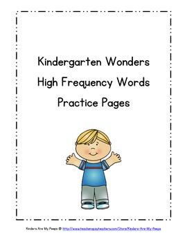 Kindergarten Wonders Reading High Frequency Words
