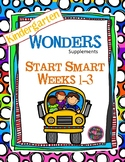 Kindergarten Wonders Reading Supplement  Start Smart  Weeks 1-3